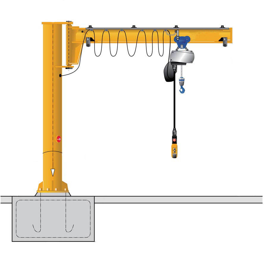 slewing arm jib crane