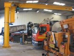 BZD column mounted jib crane for sale